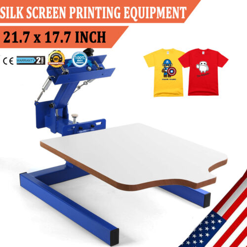 Photo 1 Color Screen Printing Equipment Press Kit Machine 1 Station Silk Screening DIY