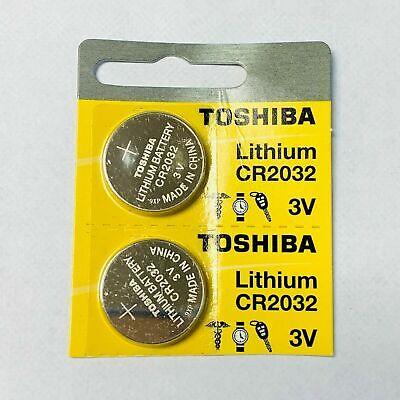 2 x New Original Toshiba CR2032 CR 2032 3V LITHIUM BATTERY BR2032 DL2032 Remote