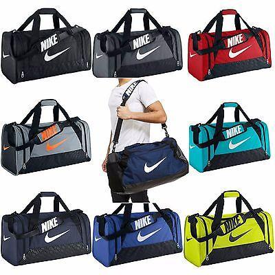 Small Duffle Gym Bag (Nike Brasilia 6 XS Small Medium Large Duffel Gym Bag Navy Black Grey Gray)
