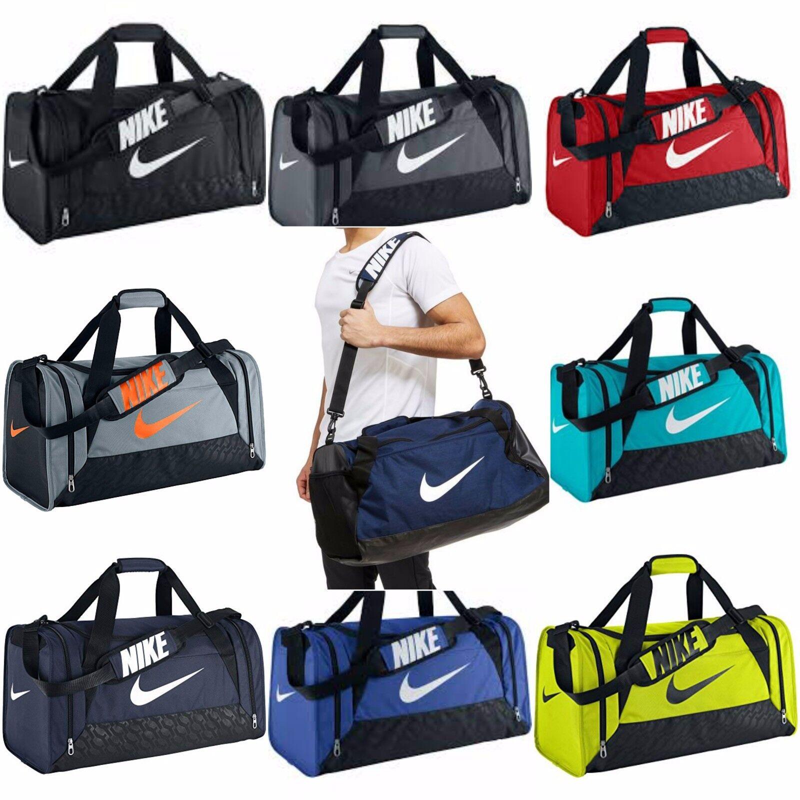 zapatos deportivos buena calidad 100% de satisfacción Nike Brasilia 6 Small Duffel Bag Gym Tote Blue Lagoon Volt Black ...