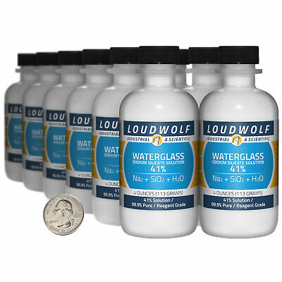 Sodium Silicate 3 Lbs 12 Bottles 99.9 Pure Reagent Grade 41 Solution