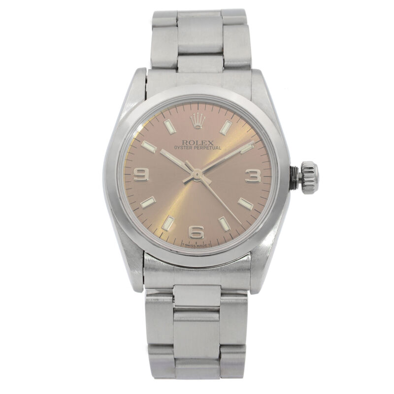 Rolex Oyster Perpetual 31mm Steel Bronze Dial Automatic Ladies Watch 67480