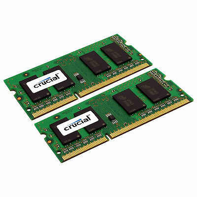 Crucial 8Gb Kit 2 X 4Gb Ddr3 1600 Mhz Pc3 12800 Ddr3l Laptop Ram Sodimm Memory