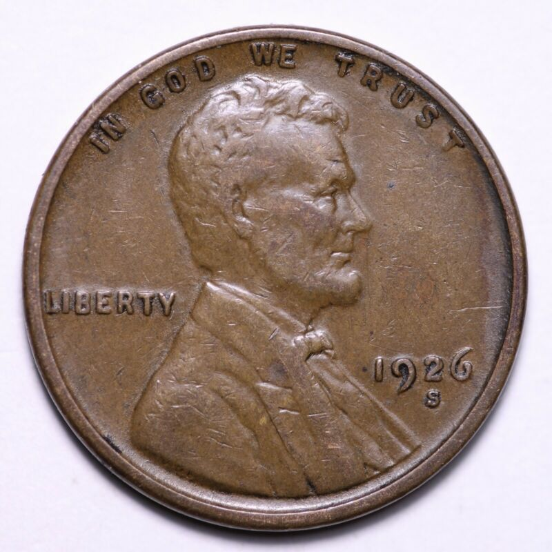 XF 1926-S Lincoln Wheat Cent Penny FREE SHIPPING - $25.00