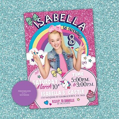 Jojo Siwa Invitation Custom Personalized Jojo Birthday Printable - Frozen Custom Invitations