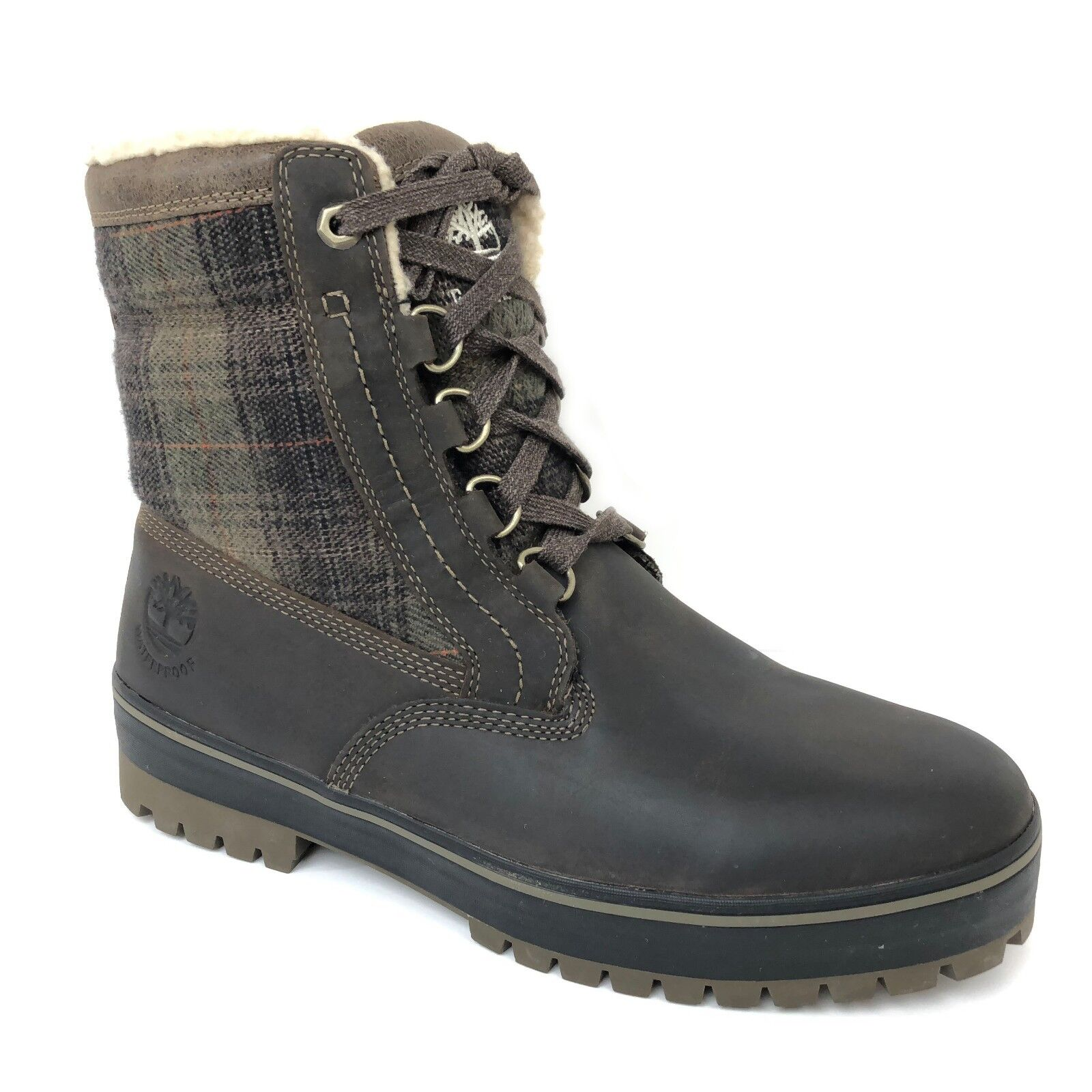 "Timberland Men's 6"" Spruce Mountain Brown Leather Waterproof"