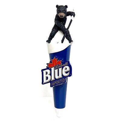 Labatt Blue TAP HANDLE - HOCKEY Bear - Canadian Pilsner Draft Beer Pull