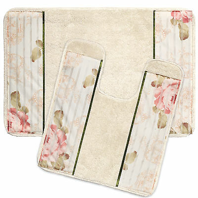 Popular Bath Madeline Beige Collection Bathroom Rug Set Bath