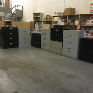 Metal lateral file cabinets