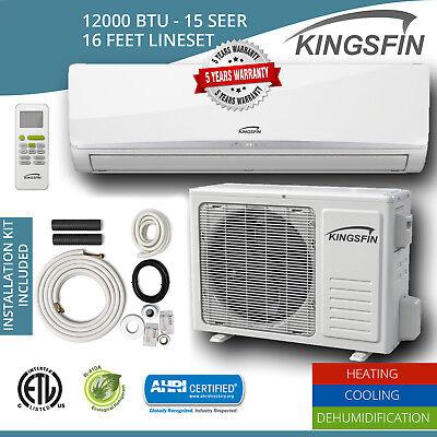 KINGSFIN Mini Split Ductless AC Air Conditioner / Heat Pump 12000 BTU / 230V