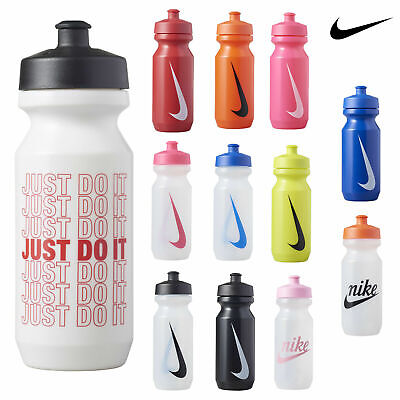 Nike Big Mouth Sports Water Bottle Drinking Gym Running Clear/Black New