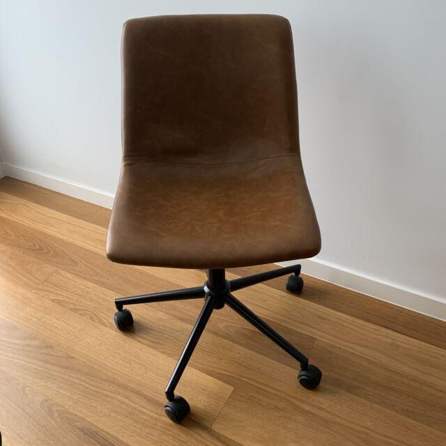 Tan Pleather Office Desk Chair