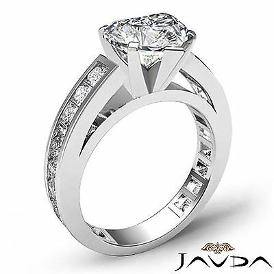 Cathedral Prong Channel Setting Heart Diamond Engagement Ring GIA G SI1 2.2 Ct 1