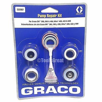 Graco Gm Em 380 390 490 Ultra 400 433 500 Pump Packing Repair Kit 222587
