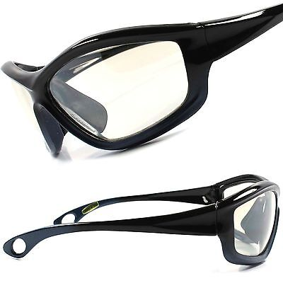 Biker Motorcycle Riding Light Tint Cool Mens Black Gray Wrap Sport Sun (Cool Motorcycle Glasses)