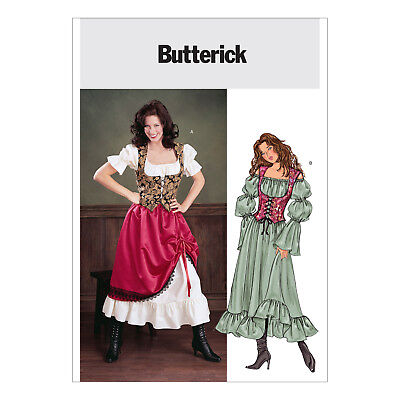 Butterick 3906 Sewing Pattern to MAKE Gypsy Serving Wench Historic - Make Gypsy Costume