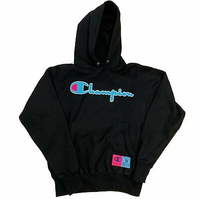 Champion Life Men's Reverse Weave Chenille Logo Black Pullover Hoodie (Champion Life Mens Reverse Weave Pullover Hoodie)