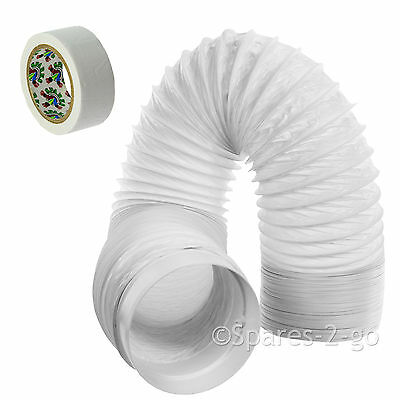 "UNIVERSAL 6m Air Conditioner Conditioning Vent Hose Pipe PVC Duct 5"" Extension"