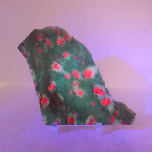 Ruby in Fuchsite, slab, cabbing rough, lapidary, gemstone, pink, green, #R-3151