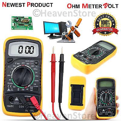Digital LCD Multimeter Voltmeter Ammeter AC DC OHM Current Circuit Tester Buzzer