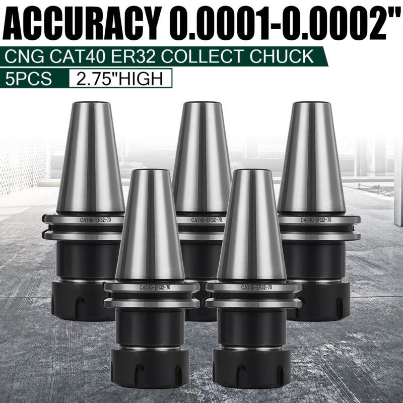 5PC ER32 Collet Set CAT40 ER32 Chuck Collet Holder Tool For Milling Machine