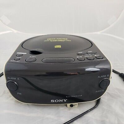 Sony Dream Machine Digital Alarm Clock Radio CD Player Large Display ICF - CD815