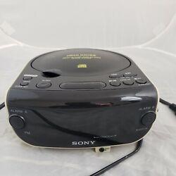 Sony Dream Machine Digital Alarm Clock Radio CD Player Large Display ICF - CD815