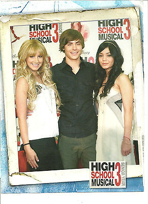 High School Musical, Zac Efron, Vanessa Hudgens, Ashley Tisdale, Full Page Pinup