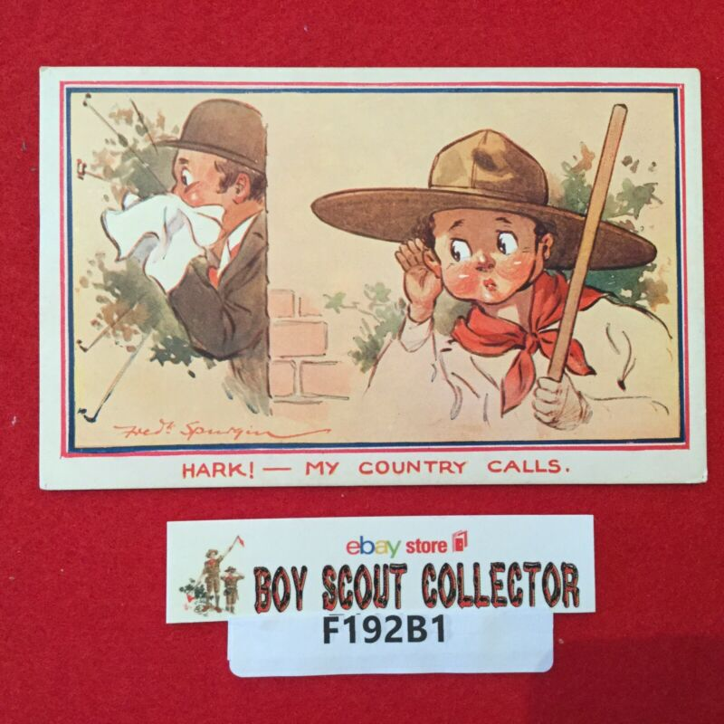 Boy Scout Postcard Hark! My Country Calls