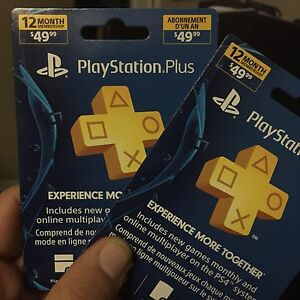 PlayStation Plus 12 Month Membership Cards (1 Year)