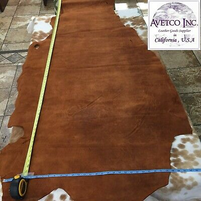 AVETCO INC BUFFALO SPLIT SUEDE LEATHER HIDE GREAT FOR DIY PROJECTS 5 oz 15-18 SF Suede Leather Buffalo