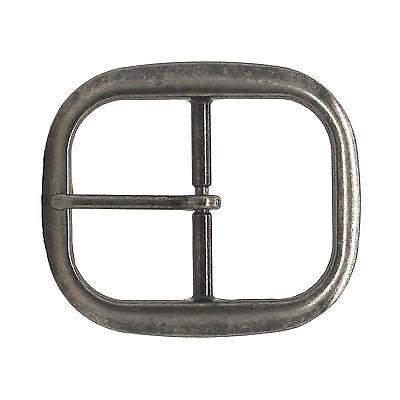 "Antique Nickel Center Bar Belt Buckle 1-1/4"" 1565-1500"