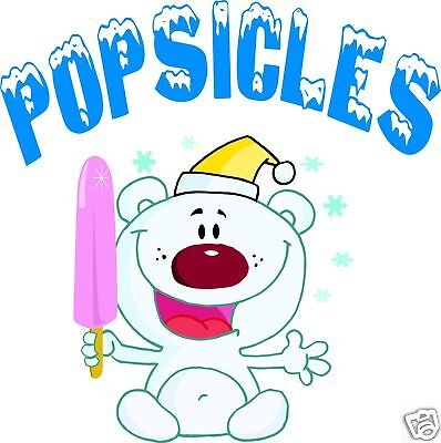 Popsicles Popsicle Concession Decal 14 Ice Cream Food Truck Cart Menu Food