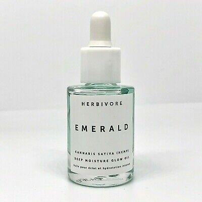 HERBIVORE Emerald Adaptogens Deep Moisture Glow Oil Travel Sized .33 oz / 10 mL
