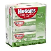 Huggies Natural Care Baby Wipes 56, 168, 624, 1040, 2080 Count - FREE EXPEDITE