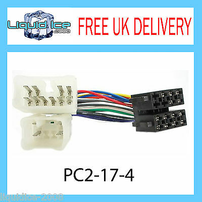 PC2-17-4 Toyota Vigo Landcruiser ISO Stereo Head Unit Harness Adaptor Lead Loom