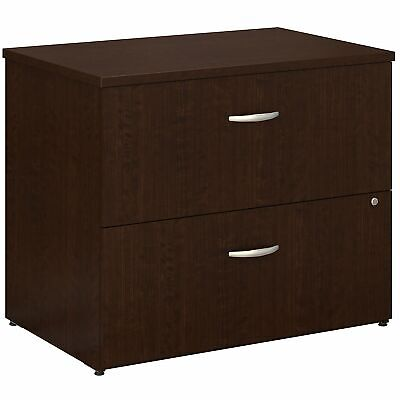 Bush Series C Mocha Cherry 36w 2 Drawer Lateral File Wc12954c