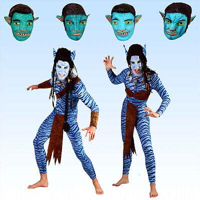 Kostüm blaue Kriegerin blauer Krieger Gr. 38 bis XL Waldwesen Alien Film (Kriegerin Kostüm)