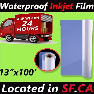 1 Roll13 X 100waterproof Inkjet Screen Printing Transparency Film Paper-5mil