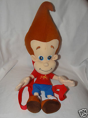 "NEW WITH TAGS  JIMMY NEUTRON PLUSH  BACKPACKS  18"" NICKOLODEON"
