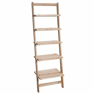 Five Tier Ladder Style Wooden Storage Shelf