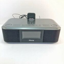 iHome iD95 App Enhanced Dual Clock Radio FM  For iPod, iPhone and iPad No Remote