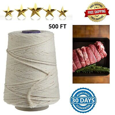 500 FT Kitchen Butchers Twine Cotton Meat Trussing String Food Safe Oven Cooking