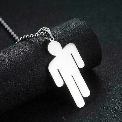 Billie Eilish Pendant Necklace Stainless Steel Stickman Unisex Jewelry Nice Gift