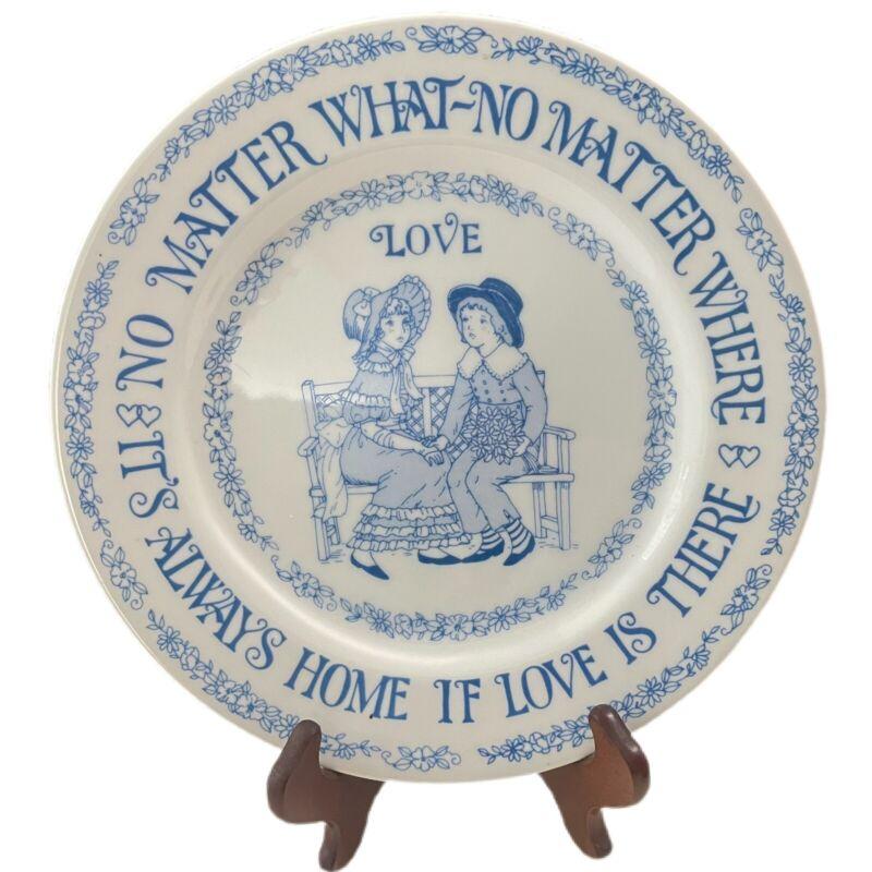 "RARE 1975 Albert E. Price "" Love"" decorative plate- Made in Japan"