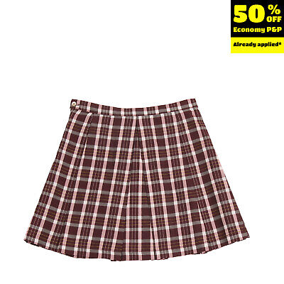 CAFFE D'ORZO A-Line Skirt Size 10Y Tartan Pattern Inverted Pleats Made In Italy
