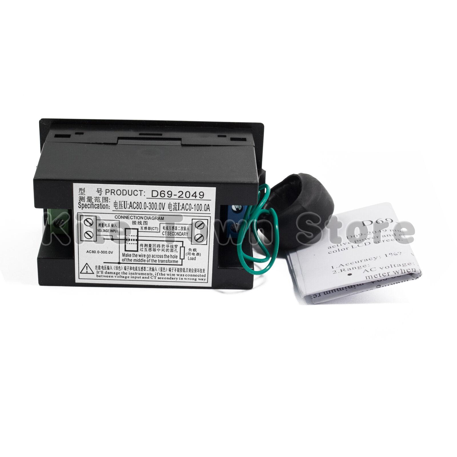 Ac 80 300v Lcd Digital Voltmeter Ammeter Volt Amp Power Kwh Panel Wiring Diagram 3 Sur 5 Meter 100a Ct 4