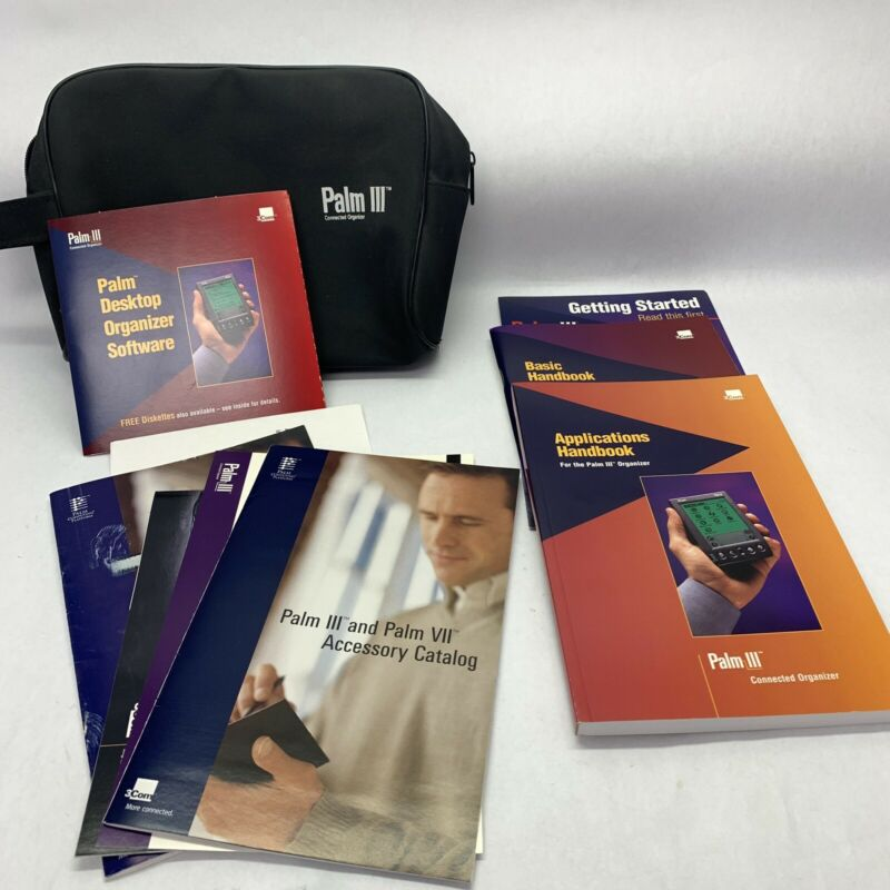 Palm III, Getting Started, Basic Handbook, Applications Book, Software CD, Case
