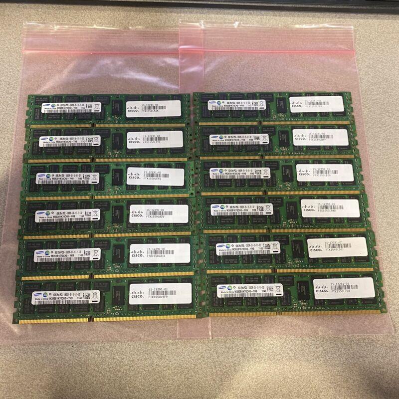 LOT OF 12 SAMSUNG 8GB 2Rx4 PC3L-10600R 15-12291-01 FTX1550L7FU