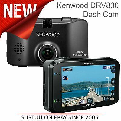 Kenwood DRV830 3'' Dash Cam│Quad HD Video Recording│GPS│3-Axis G-Sensor│144°│New
